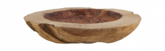 Fruitschaal large - ø40-45 cm - glossy - blank - teak