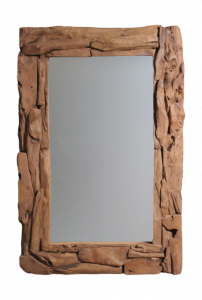 Wandspiegel Root - 120x80 cm - teak wortelhout
