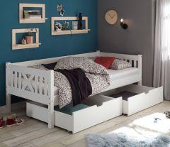 Set van 2 bedlades Trever/Leona - wit