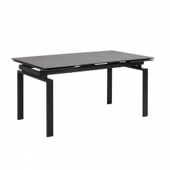 Verlengbare eettafel Hunor 160/240x85 - zwart