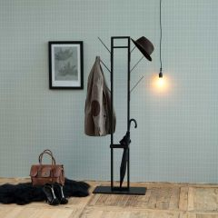 Kapstok Vinci met parapluhouder - zwart