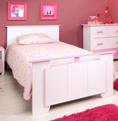 Kinderbed Biotiful meisje 90x200 cm - roze/wit
