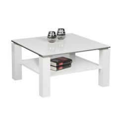Table basse Barbry 75x75cm - blanc