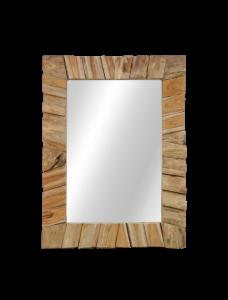 Miroir mural Svilar 60x80cm - naturel/teak