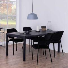 Table à manger extensible Biago 170/250x90 - noir mat
