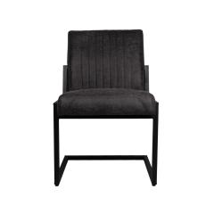 Lot de 2 chaises de repas Texas Yacht cuir/métal - graphite