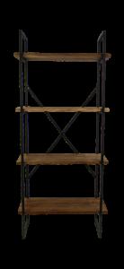 Étagère de rangement - bois / fer Java recyclé