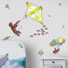 Muurstickers Curious George Kite