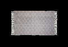 Vloerkleed - katoen - 90x60 cm - grijs