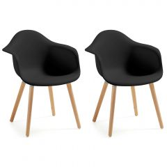 Set van 2 stoelen Kevya - zwart