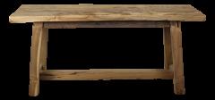 Decoratieve bank Lawas - 100 cm - blank - teak