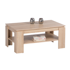 Table basse Ford 100 cm avec 1 tiroir - chêne