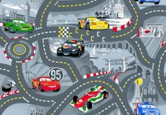 Tapijt Cars - World of Cars grey