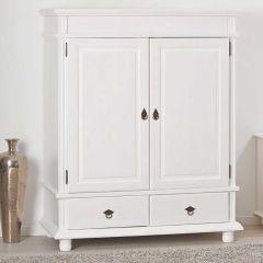 Kledingkast Danz 2 deuren laag - wit