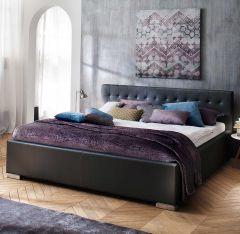 Bed Delphine 180x200 - zwart