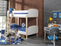 Stapelbed Kiddy Scandinavisch - wit