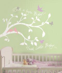RoomMates stickers muraux - Branche avec oiseaux et papillons