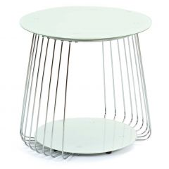 Table d'appoint Riva ø50cm - blanc