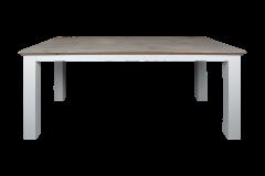 Table de repas Provence - 220x100 cm - chêne gris / blanc