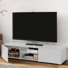 Meuble TV Podium 140 cm - blanc