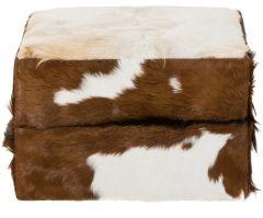 Repose-pied - en peau de chèvre - en peau de chèvre