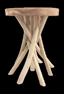 Tabouret Branch - ø35 cm - teck clair