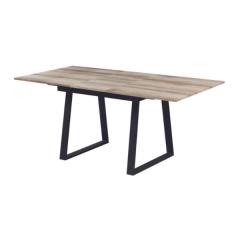 Table extensible Austria 140/180x90 industriel - chêne vieilli