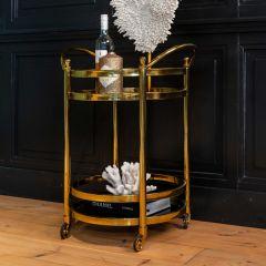 Trolley Hendry rond - goud/glas