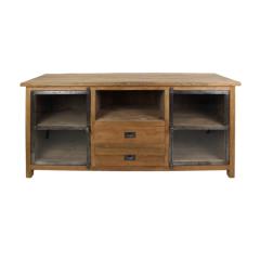 TV-meubel Hunter 160cm met 2 lades - reclaimed teak/ijzer