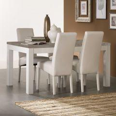 Table à manger Roma 190 cm - blanc/béton