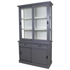 Vaisselier Vicenza à 4 portes & 2 tiroirs - gris/blanc