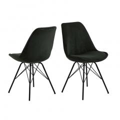 Lot de 2 chaises Erin - vert foncé