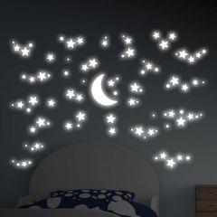 Muurstickers 3D Starry Night - Glow in the dark