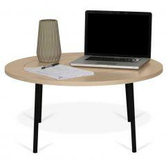 Table basse Ply Ø80cm - chêne