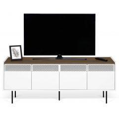 Tv-meubel Radio 160cm - walnoot/wit