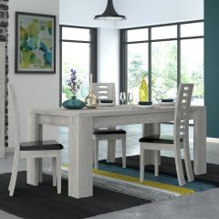 Table à manger extensible Lani 180/260x90 - chêne gris