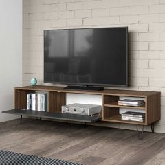 Tv-meubel Jiro 165cm - walnoot/antraciet