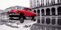 Canvas Auto Cuba 50x100cm