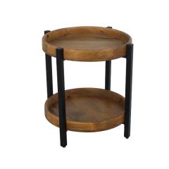 Table basse Hudson 45x45 cm - bois de manguier / fer