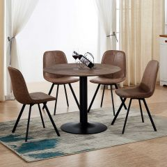 Table Juliette Ø105 - brun/noir
