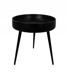 Table d'appoint Ventura - ø40 cm - noir - mangue / fer