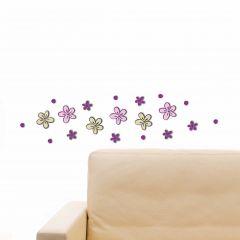 Muurstickers 3D Little Flowers - schuimsticker