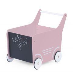 Houten loopwagentje - roze