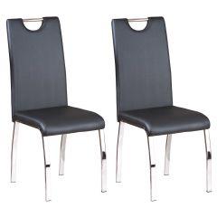 Set van 2 stoelen Texas - zwart