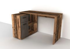Bureau Albrecht 117cm - verweerd hout/staal
