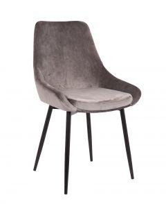 Set van 2 fluwelen stoelen Mirano - grijs