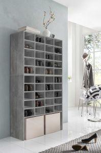 Schoenenkast / Rek Levi met 40 vakken - beton