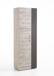 Garde-robe Nala 60cm avec 2 portes - chêne gris