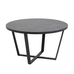 Table basse Amanda Ø77 - marbre/noir