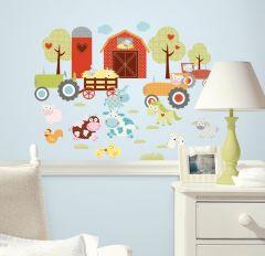 RoomMates muurstickers - Boerderijdieren